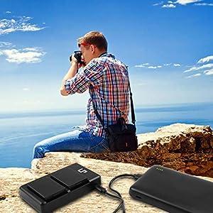 LP LP-E6 LP E6N Battery Charger Set, 2-Pack Battery&Dual Charger Compatible with Canon EOS 5D Mark II, 5D Mark III, 5D Mark IV, 5DS, 5DS R, 6D, 6D Mark II, 7D, 7D Mark II, 60D, 60DA, 70D, 80D, R&More (Color: 2 Batteries & 1 Dual USB Charger, Tamaño: 2 Batteries & Dual Charger)