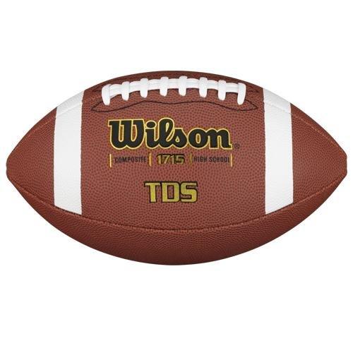 Wilson WTF1715B F1715b - Pallone per football americano NFL TDS, pelle mista, colore: Marrone