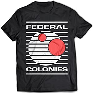 9178 Federal Colonies Mens T-Shirt Total Recall Rekall Memory Mars Colony Moon Sarang