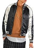 (スペイド) SPADE ジャンパー スカジャン メンズ ジャケット スーベニア スーベニール ジャケット 【e246】 (S, 黒x金)