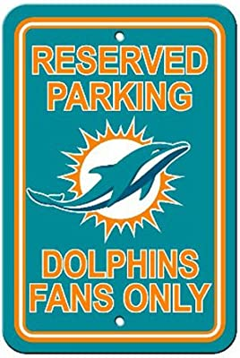 Bsi Products Bsi NFL Miami Dolphins Reserved Parking Sign