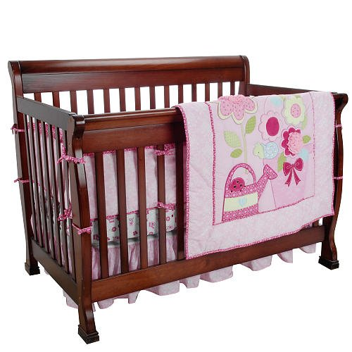 Just Born 4 Pieces Crib Bedding Set Color: Beautiful Garden