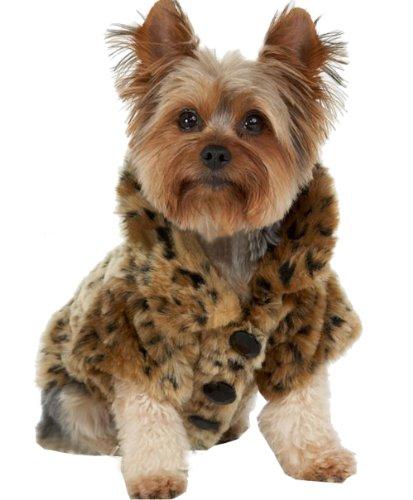 Generic Luxury Pet Dogs Coat Leopard Faux Fur Jacket Winter Clothes (Xs)