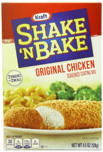 Kraft Shake N Bake Seasoned Coating Mix Box, Original Chicken, 4.5 Ounce (Pack of 12) (Shake And Bake Original Chicken compare prices)