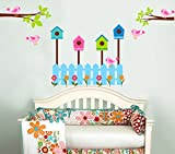 StickersKart Wall Stickers Nursery Room Colorful Happy Home (Multi-Colour, 16...-7141