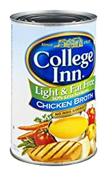 College Inn Chicken Broth Light & Fat Free 48 OZ (Pack of 12)