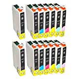 2 Full sets + 2 extra black T 0481-T0486 T0487 ink (2 T0481 2 T0482 2 T0483 2 T0484 2 T0485 2 T0486) T 487 Multipack Compatible Ink Cartridges for Epson Sylus RX620 - Also compatible for Epson Stylus Photo R200 R220 R300 R300M R320 R325 R340 R350 RX500 R