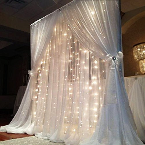 LED Backdrop Curtain String Lights