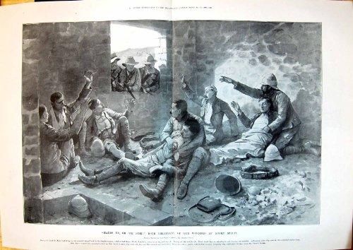 una-stampa-antica-del-trattamento-boero-di-1900-guerre-ha-ferito-i-soldati-britannici-koorn-sprui