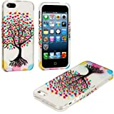 myLife (TM) Colorful Tree of Love Series (2 Piece Snap On) Hardshell Plates Case for the iPhone 5/5S (5G) 5th Generation Touch Phone (Clip Fitted Front and Back Solid Cover Case + Rubberized Tough Armor Skin + Lifetime Warranty + Sealed Inside myLife Authorized Packaging)