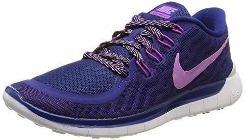 Nike, Women, Sports Shoes, wmns free 5.0, multi (dp ryl bl/fchs glw-fchs flsh-c), 40 EU (6 UK)