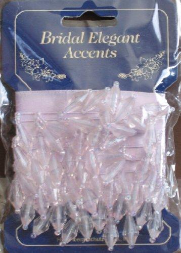 Bridal Elegant Accents: Beaded Fabric Trim - 3' Lavender Color