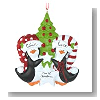 Penguin First Christmas Personalized Ornament