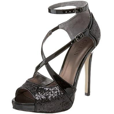 Amazon.com: GUESS Women's Tailgate Platform Sandal,Black