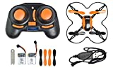 Udirc Nano 3D RC Quadcopter with 6-Axis Gyro, 2.4GHz 4-Channel and 360 Degree-Rolling Action (Black/Orange)