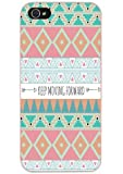 DECO FAIRY® Chervon Triangle Printed Keep Moving Forward Snap on Case Cover for Apple iPhone 6 Plus / 6+