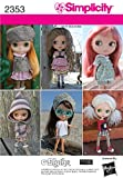 Simplicity Sewing Pattern 2353 Blythe Doll Clothes, One Size