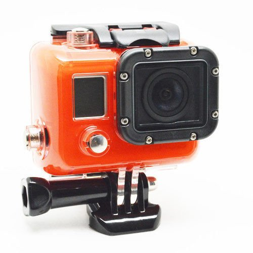 Carry360 Skeleton Protective Housing With Lens For Gopro Hero 3 Open Side For Fpv Without Cable(Color Red)