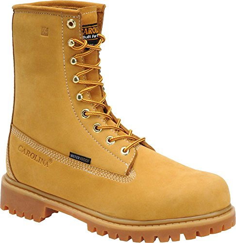 "Carolina Mens 8"" Ins Safety Light Brown Man-Made Boot 10.5 D Us"