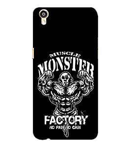 EPICCASE Muscle monster factory Mobile Back Case Cover For Oppo F1 Plus (Designer Case)
