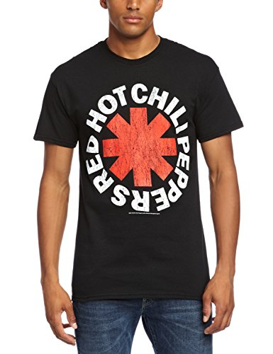 CID - Red Hot Chili Peppers - Distressed Asterisk, T-shirt da uomo,  manica corta, collo rotondo, nero(schwarz - black), M