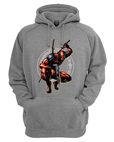 Deadpool Character Ready To Fight Unisex Felpa con Cappuccio Large