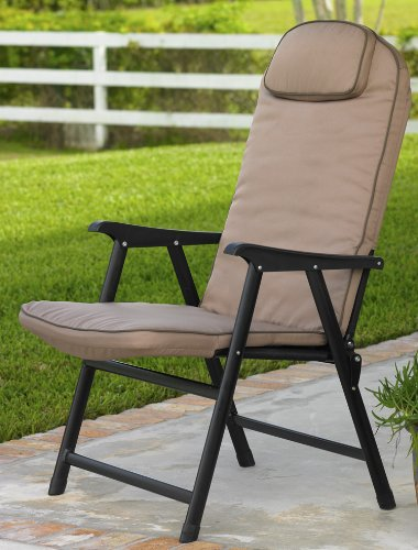 Extra Wide Folding Padded Outdoor Chair 650 Lbs