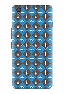 Noise Tie Blue Printed Cover for OnePlus X