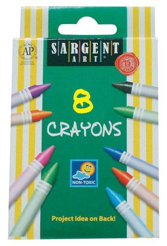 Sargent Art 55-0908 8-Count Regular Crayon, Peggable