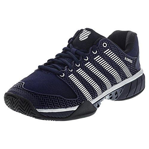 K-Swiss Men's Hypercourt Express Tennis Shoe (Navy/Silver/Black) (10 D(M) US)