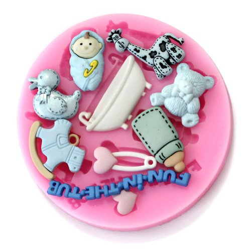 Yunko Baking BABY BOTTLE GIRAFFE Molds Silicone Mold Fondant Molds Sugar Craft Tools Chocolate Mould For Cakes