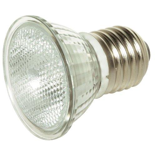 Satco S4625 50 Watt Mr16 Short Neck Halogen Medium Base 120 Volt Clear Fl 36 Beam Pattern No Harmful Ultraviolet Rays Light Bulb, With Lens