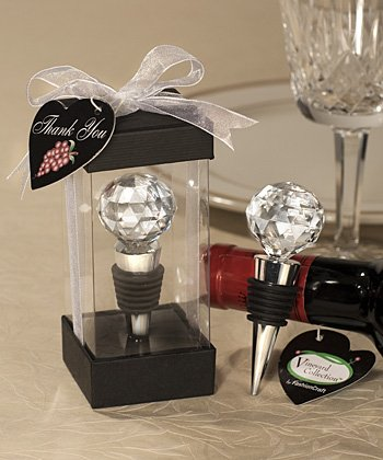 Vineyard Collection Crystal Ball Design Wine Stoppers (Set of 12) - Wedding Party Favors