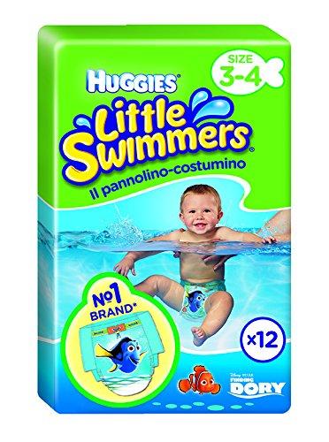 Huggies Little Swimmers Pannolino-Costumino, Misura M, 7-15 kg, Confezione Singola - 12 Pannolini