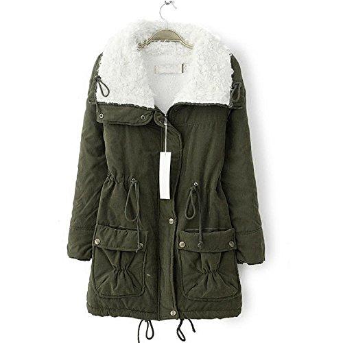 ASSICELLA. PIN donna addensare pile pelliccia sintetica extra-caldo l'inverno cappotto giacca da donna giacca invernale