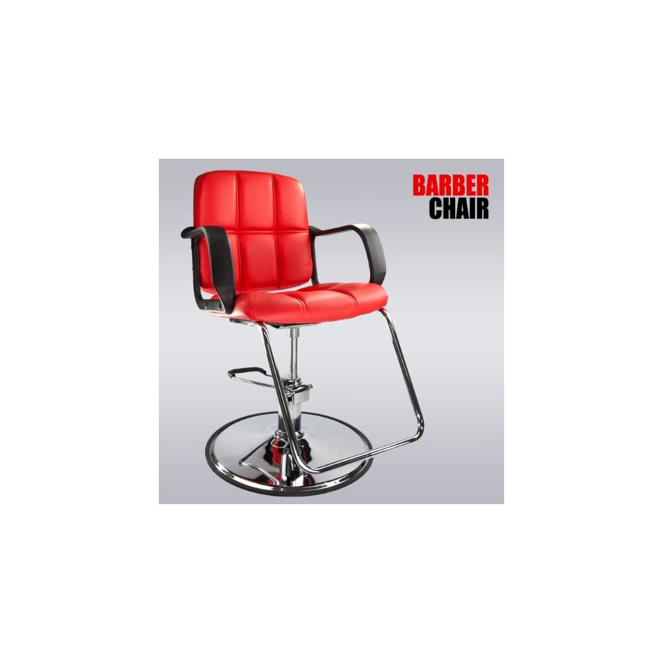 Red Modern Fashion Classic Hydraulic Barber Chair Hair Styling Salon Beauty