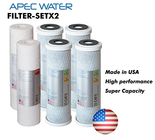 APEC Water Systems FILTER-SETX2 APEC Ultimate Series Us Made 2 Sets of Stage 1, 2 & 3 Replacement Filter For Undersink System(Filter-Setx2) (Ro Do Filter System compare prices)