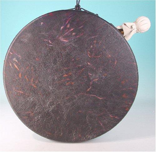 Frame Drum Ceramic Hoop Drum, Tie Dye Goat Skin