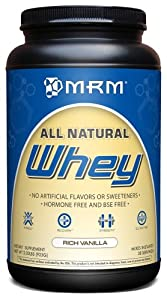 MRM All Natural Whey, Vanilla, 2.03-Pound