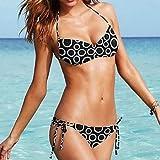 XARA moda círculo desgaste atractivo del bikiní de la playa del traje de baño traje de baño traje de baño de las mujeres biquini , Black , M