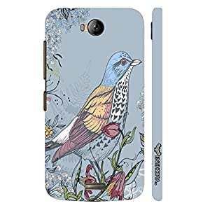 Micromax Canvas Q336 Pisces Blue designer mobile hard shell case by Enthopia