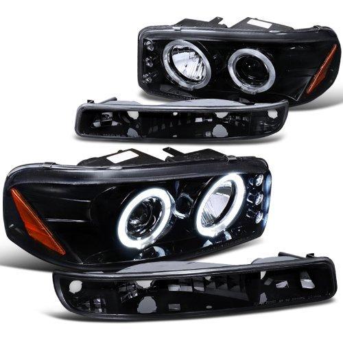 gmc-sierra-sl-sle-denali-proj-halo-led-headlights-bumper-lights-smoke-by-spec-d-tuning
