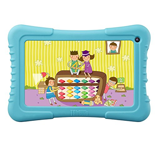 """Dragon Be a match for 7"""" Quad Core Android Kids Tablet, IPS Display, with Wifi and Camera and Games, HD Kids Edition w/ Zoodles Pre-Installed (2015 New Archetype, M7 with Blue Silicone Case)"""