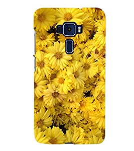 BOOMING MARRIGOLD FLOWERS FIELD IN SUNLIGHT 3D Hard Polycarbonate Designer Back Case Cover for Asus Zenfone 3 Deluxe ZS570KL::Asus Zenfone 3 Deluxe (5.7 INCHES)