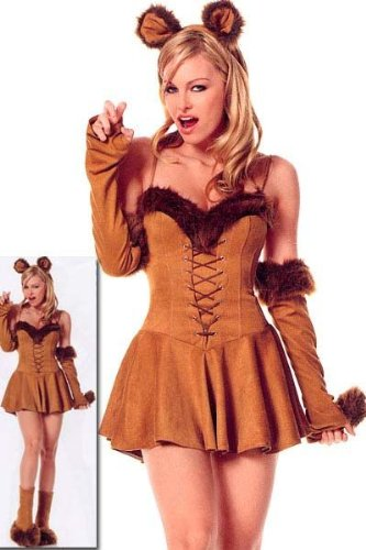 Leg Avenue Women's Cuddly Lion Costume, Brown, X-Small