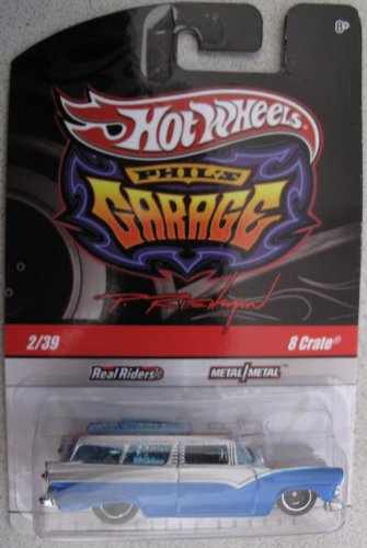 Hot Wheels Phil's Garage 8 Crate Wagon 2/39 BLUE - 1