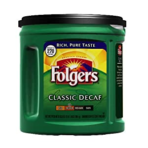 Folgers Decaf Ground Coffee - 33.9 oz. - CASE PACK OF 2