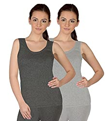 Selfcare Set Of 2 Girls Sleeveless Thermal Top