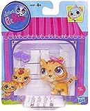 Littlest Pet Shop #3593 Tiger and #3594 Baby Tiger Pets