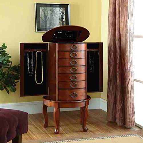 Powell Cherry Jewelry Armoire
